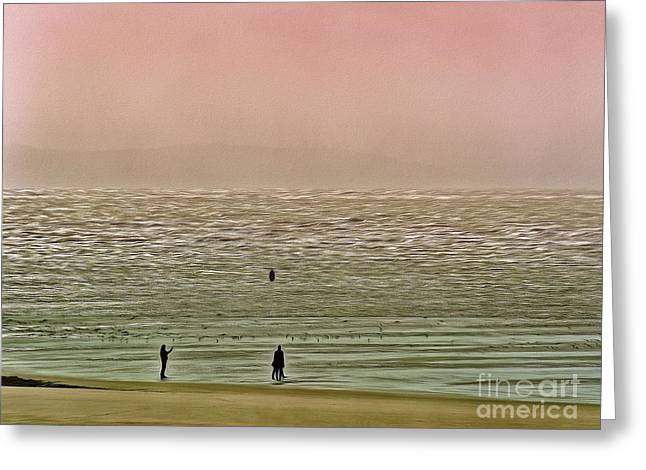 Greeting Card featuring the photograph A Distant Shore by Leigh Kemp