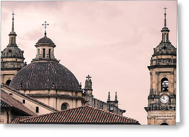 A Famous Cathedral In Bogota, Colombia Greeting Card