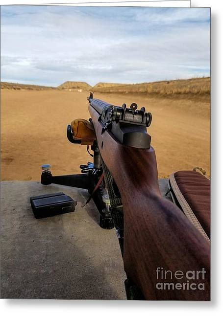 Greeting Card featuring the photograph A Fine Day At The Range by Jon Burch Photography