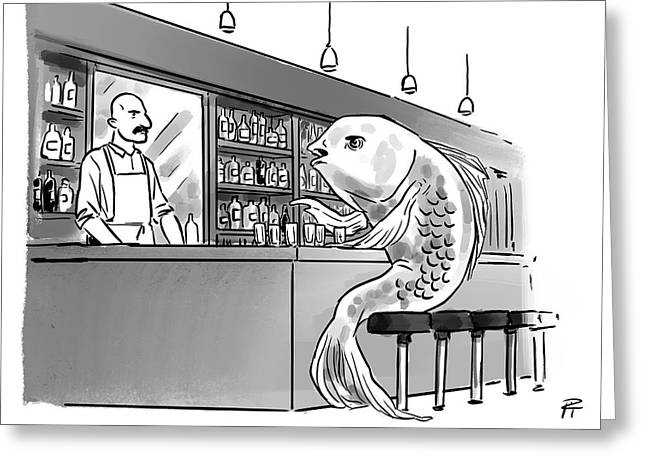 A Fish Out Of Scotch Greeting Card