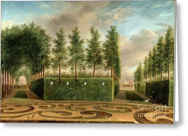 A Formal Garden Greeting Card