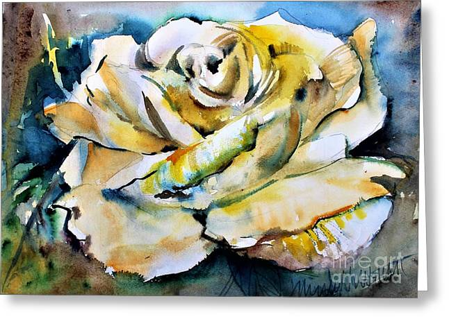 A Golden Rose Greeting Card