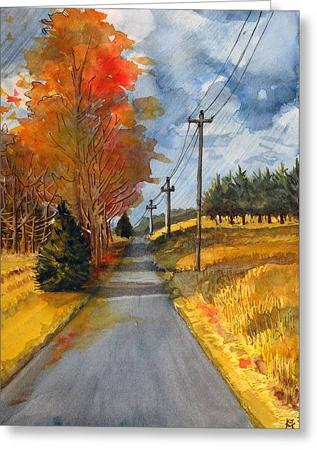 A Happy Autumn Day Greeting Card