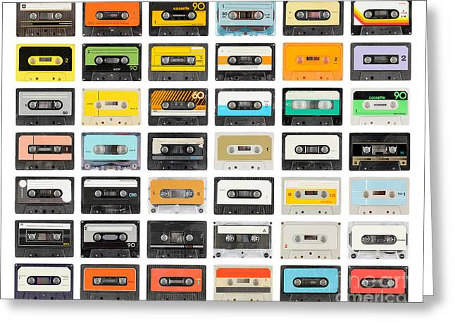 A Large Collection Of Retro Cassette Greeting Card