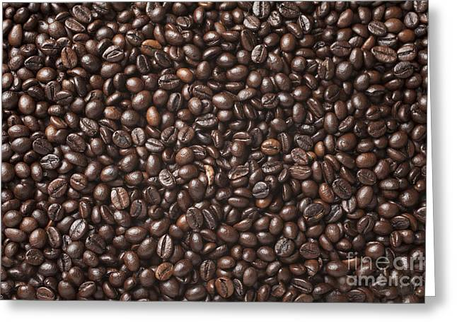 A Lot Of Roasted Coffee Beans Which Greeting Card