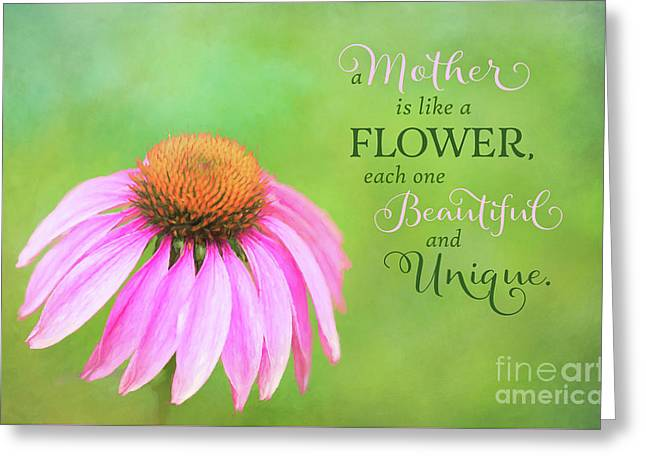 A Mother Is Lke A Flower Greeting Card
