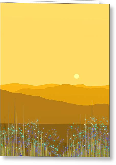 A Mountain Meadow Greeting Card