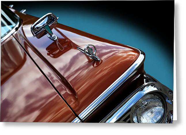Greeting Card featuring the photograph A New Slant On An Old Vehicle - 1959 Edsel Corsair by Debi Dalio