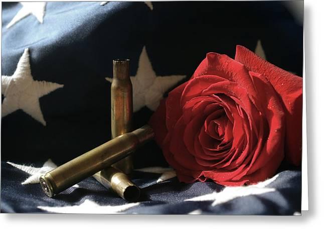 A Patriots Passing Greeting Card
