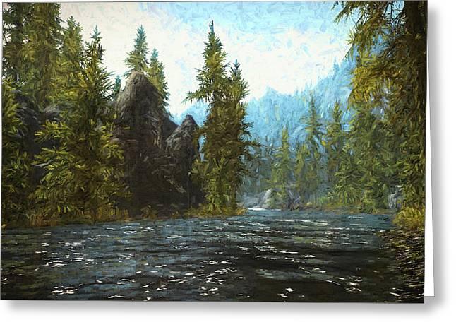 A River Flows Thru It Greeting Card