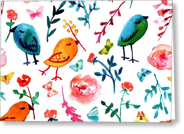 A Seamless Background Pattern With Greeting Card