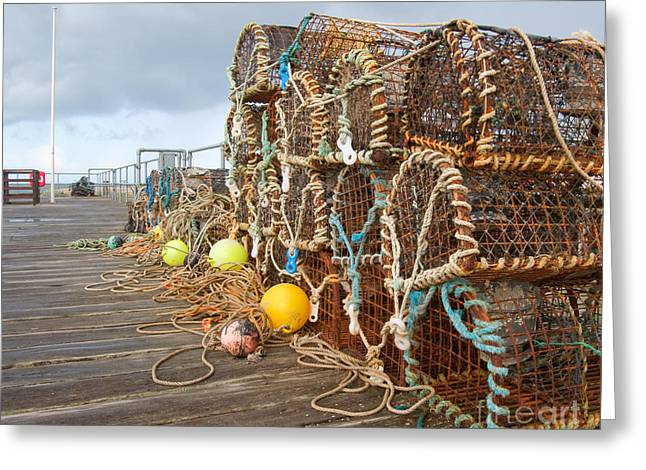 A Selection Of Lobster Pots On The Greeting Card