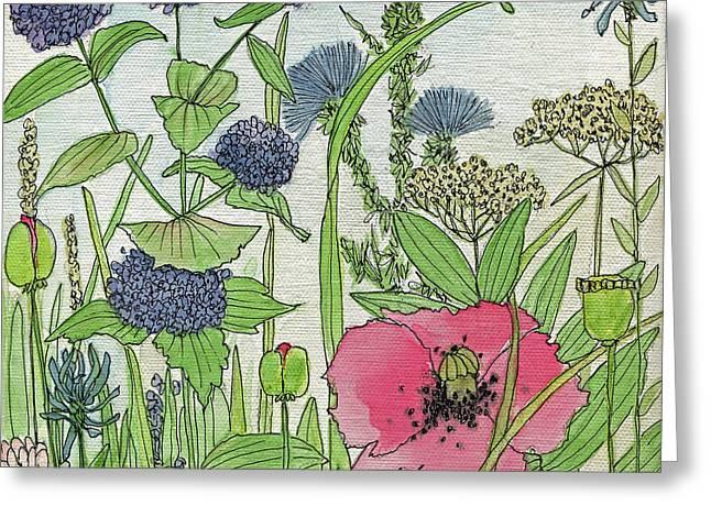 A Single Poppy Wildflowers Garden Flowers Greeting Card