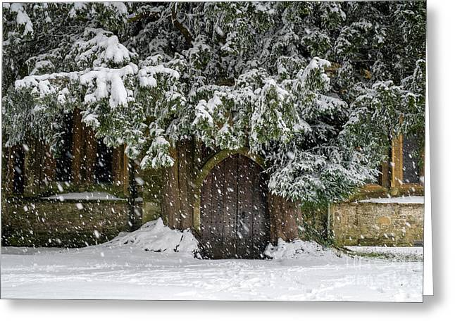 A Snowy Stow Greeting Card