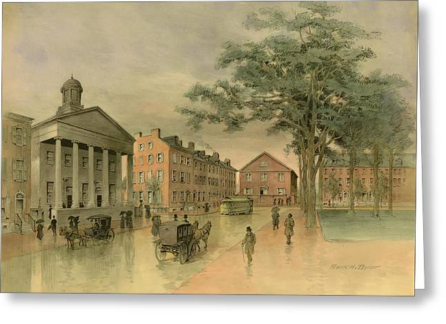A Southwestern View Of Washington Square Greeting Card