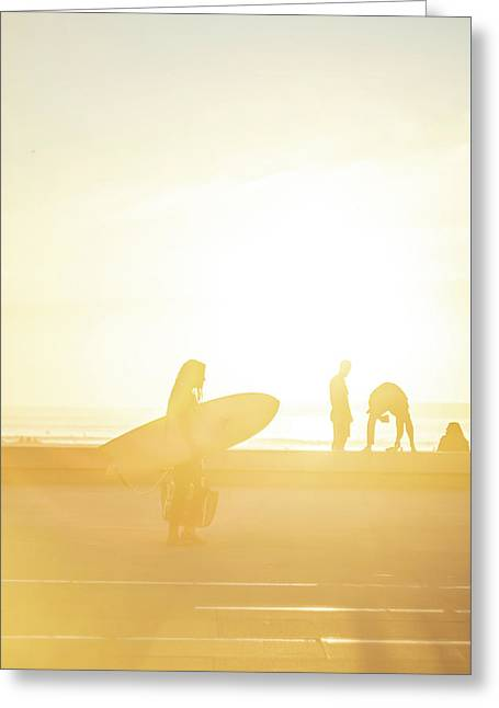 Greeting Card featuring the photograph A Surf Board by Bruno Rosa