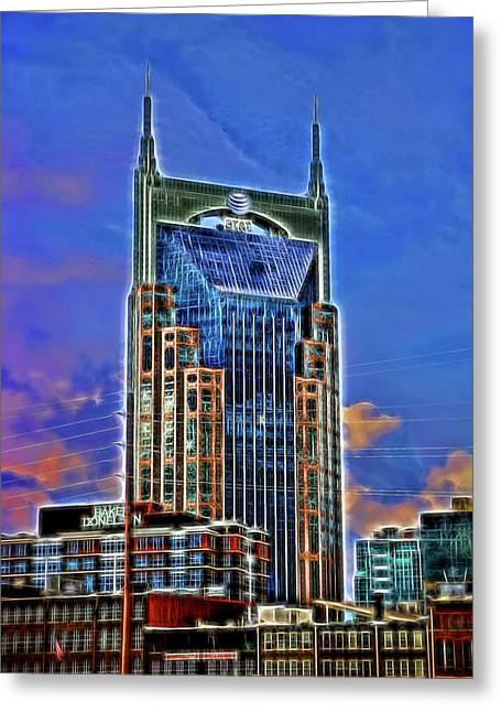 A T And T Building A K A The  Batman Building # 3 - Nashville  Greeting Card