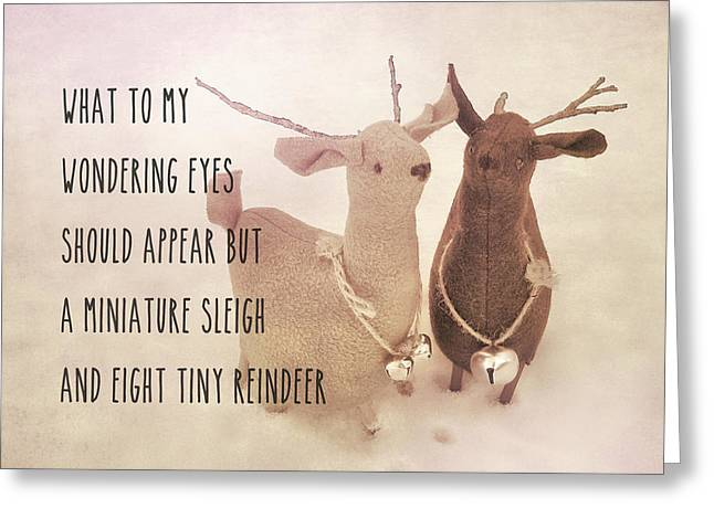A Visit From Saint Nicholas Quote Greeting Card by JAMART Photography