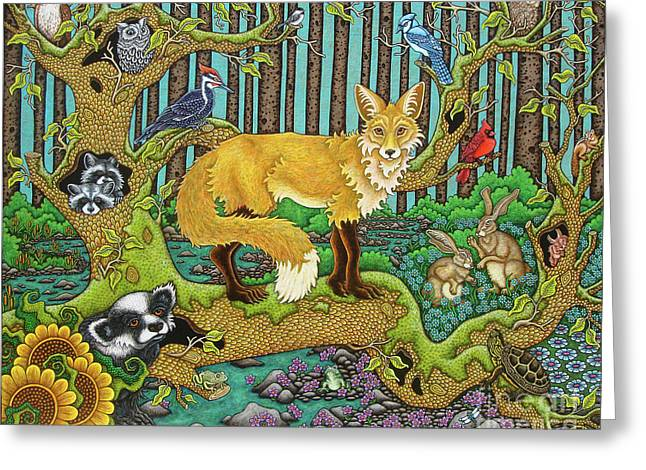 A Vixen In The Forest Greeting Card