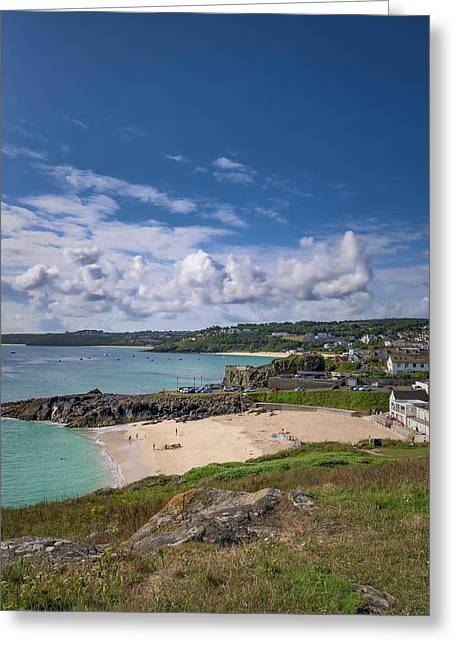 A Walk To Porthgwidden Beach - St Ives Cornwall Greeting Card
