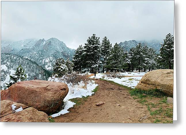 A Winter's Day In The Flatirons Greeting Card