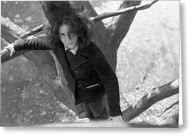 A Woman In A Tree, 1972 Greeting Card