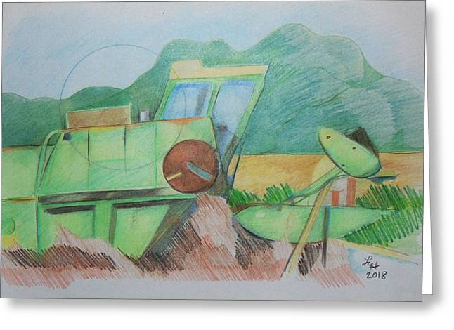 Abandoned Combine Greeting Card