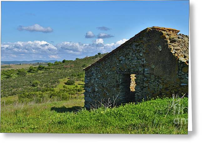 Abandoned Cottage In Alentejo Greeting Card