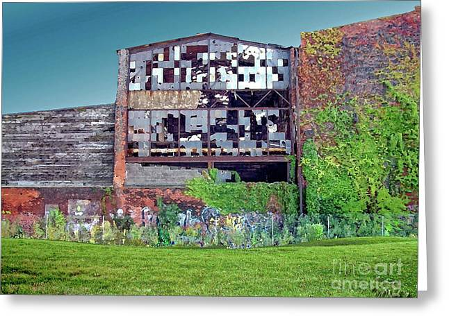 An Abandoned Factory In Detroit Greeting Card