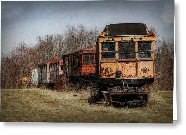Abandoned Train Greeting Card