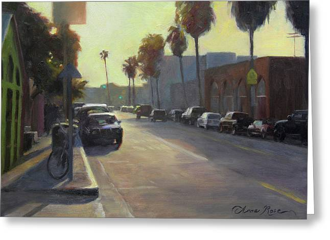 Abbot Kinney Sunset Greeting Card
