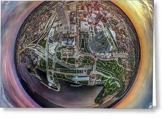 Greeting Card featuring the photograph Above The Calling Little Planet by Randy Scherkenbach