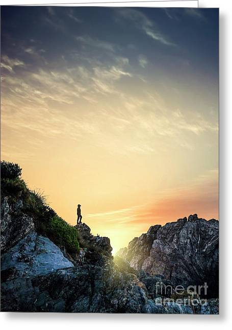 Above The Light Greeting Card