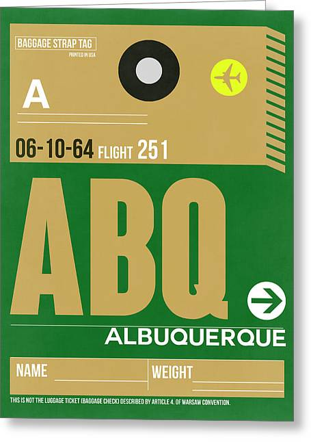 Abq Albuquerque Luggage Tag I Greeting Card