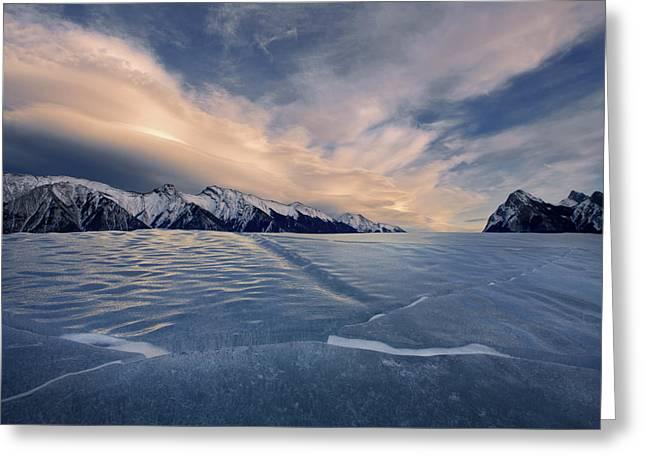 Abraham Lake Ice Wall Greeting Card