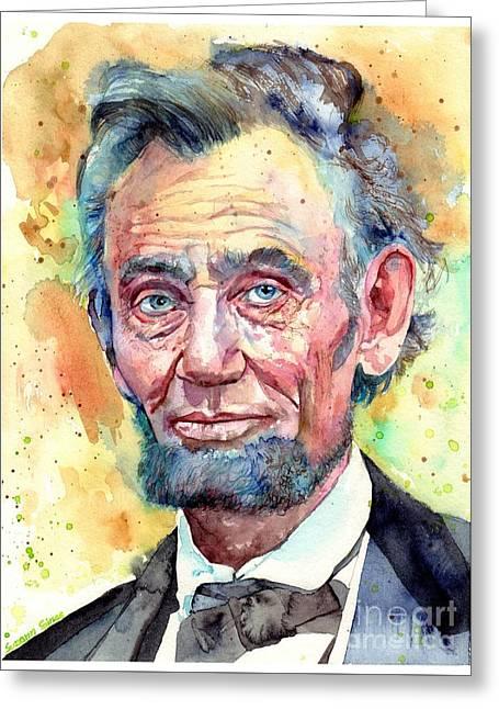 Abraham Lincoln Portrait Greeting Card