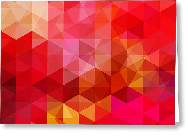 Abstract Background Consisting Of Red Greeting Card