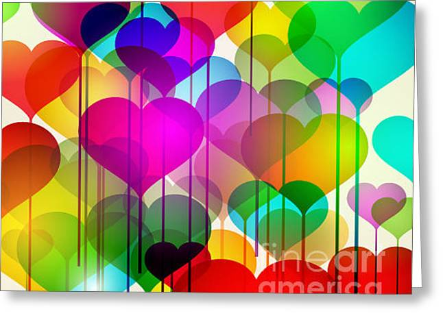 Abstract Colorful Stock Vector Greeting Card