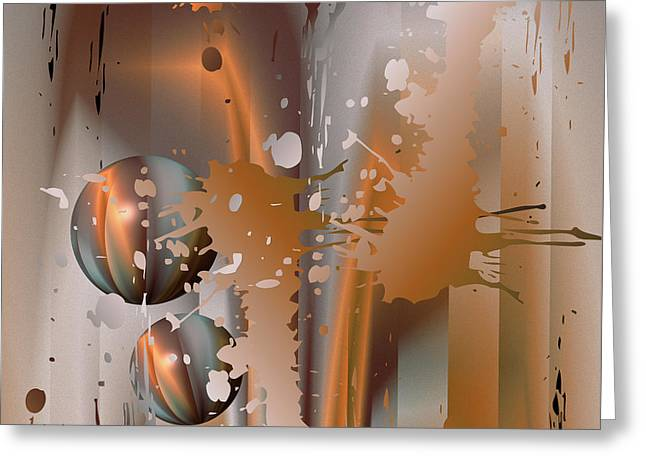 Abstract Copper Greeting Card