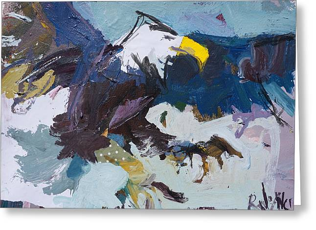 Abstract Eagle Painting Greeting Card