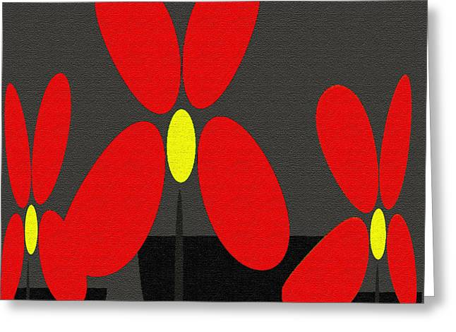 Abstract Floral Art 393 Greeting Card