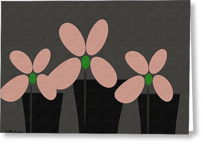 Abstract Floral Art 394 Greeting Card
