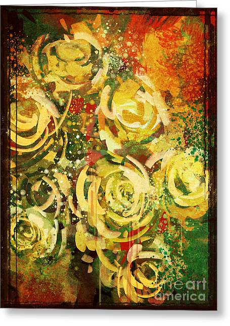 Abstract Flowers Vintage Style,digital Greeting Card