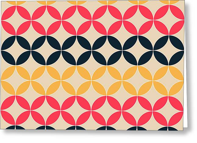 Abstract Geometric Artistic Pattern Greeting Card
