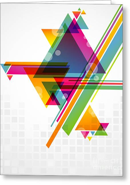 Abstract Geometric Shapes With Greeting Card