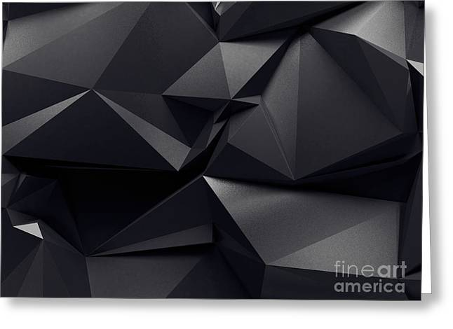 Abstract Graphite Crystal Background Greeting Card