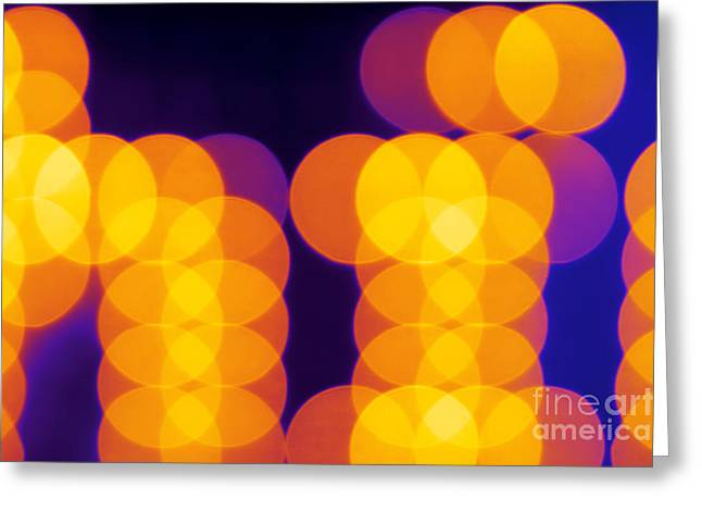 Abstract Lights Greeting Card