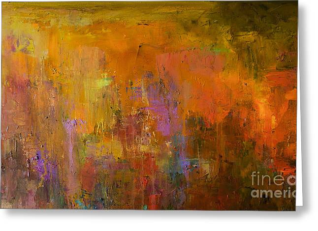 Abstract Oil Painting Background. Oil Greeting Card