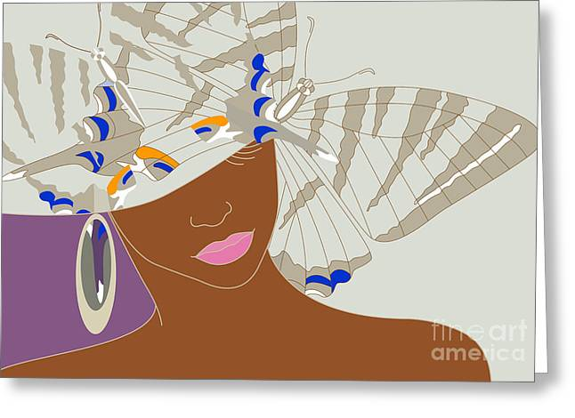 Abstract Portrait Of An African Woman Greeting Card