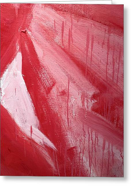 Abstract Red Paint Greeting Card